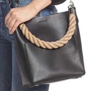 NWT AllSaints Small Harri North/South Leather Tote